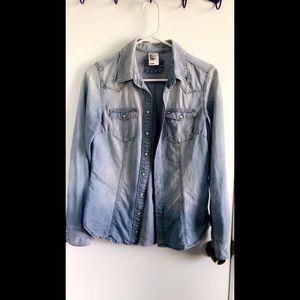 H&M Light Wash Jean Shirt